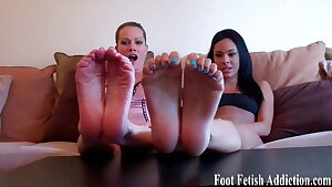 Get on your knees and worship the feet of a goddess