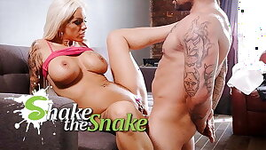 Jiggle The Snake - Scorching Blonde Milf Get Her Ass DESTROYED