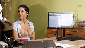 LOAN4K. Curvaceous stunner knows how to solve her problems
