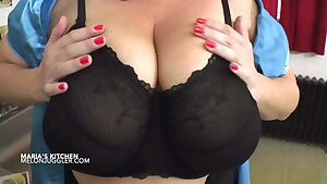Look at very big bumpers of Maria Moore as she jacks