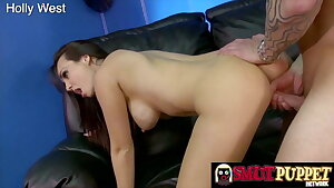 Smut Puppet - Brunettes Taking it in Doggie Compilation 7
