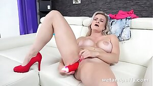 Lily Joy Fucks Herself With Crimson Dildo
