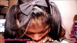 HD Thai Teen Heather Deep gives deepthroat throatpie for fresh laptop tablet