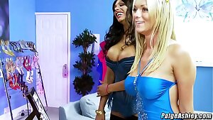 Paige Ashley and India Babe orgy party with friends