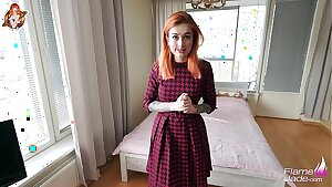 Gorgeous Red-haired Babe Deep throats and Hard Fucks You While Parents Away - JOI Game