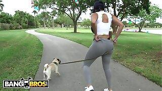 BANGBROS - Big Dick White Dude Goes Ham On Latina Diamond Kitty's Big Ass