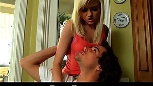 PornPros HD small blonde coed rides thick cock