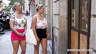 Private.com - Curvy babes fucks in a workshop