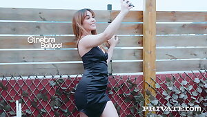 Private.com - DP'd Ginebra Bellucci Gets Dual Dicked By 2 Dicks