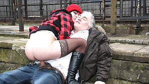 Aged Gross Guy Fucks Real Czech Teen Street Whore in Public