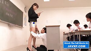 Horny Japanese MILF Teacher - Mom and her students
