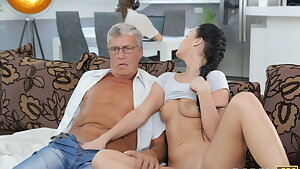 DADDY4K. Taboo sex of aged guy and sweet dark haired finishes