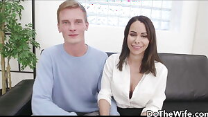 Shy German Wife Jessy Jey Kisses Cuckold After Tonguing Jizm