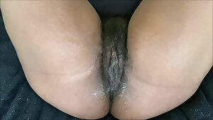 A PUSSY FART FROM MY HAIRY CREAMY PUSSY BEFORE SQUIRTING