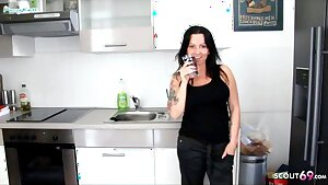 GERMAN STEPMOM with Massive Tits Seduced to Fuck by StepSon