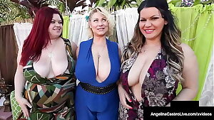 Thick Chicks Angelina Castro Trinity Guess & Sam 38G Gobble That Big Cock