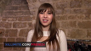 Cute French bootee sales girl Luna Rival has anal fun