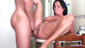 German MILF Milf Seduces young Neighbour to Poke on Holiday
