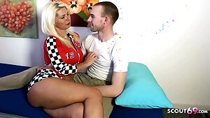 German Aunt teach Cherry Nephew how to Fuck on Holiday Trip