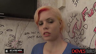 Aubrey Kate fucks a colored hair girl.