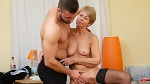 MATURE4K. Woman is old but still wants to fuck, so boss pounds her