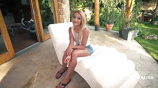 POV anal invasion with Molten blonde Virgin Kiss - itsPOV