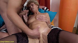 sexy 75 years old mom loves toyboy