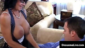 Big Titty Mummy Deauxma Jets Cum With Lucky Fan Fucking!