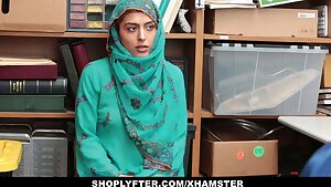 Shoplyfter - Scorching Muslim Nubile Caught & Harassed
