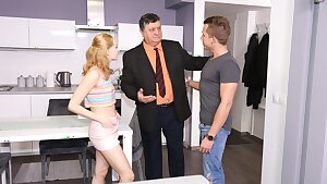 DADDY4K. Bimbo girl mailed into love making with bfs rich dad