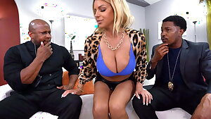 Busty MILF Brooklyn Chase Persuades Tax Agents With Anal Sex