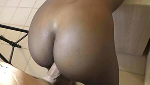 African maid doggystyle and cum inwards