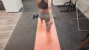 My Fit Teen Roommate let me Fuck her after her Yoga Session.