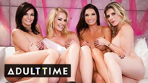 Bachelorette Soiree Hosts The HOTTEST Lesbian Foursome Ever!