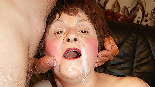 chubby grandma gets rough boink