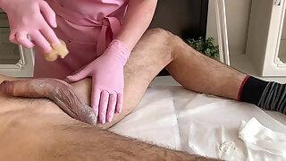 A lot of semen - ejaculation during waxing