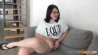 Buxom Meraki needs HER FIRST ANAL EXPERIENCE!
