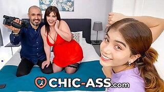 SPANISH THREESOME:  MAN fucks Nubile & WIFE - CHIC-ASS.com