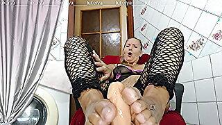 Lukerya morning coffee and softcore foot massage